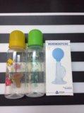 Бутылочки и молокоотсос. Фото 1.