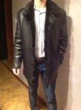 Кожаная зимняя куртка (мех - бобер). Фото 3.