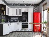 Кухня мдф снежный белый. Фото 1.