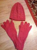 Шапка и перчатки. Фото 1.