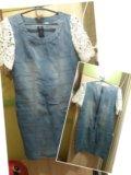 Джинсовое платье. Фото 1.