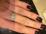 Новое золотое кольцо с бриллиантами. Фото 4.