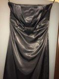 Нарядное атласное платье бюстье. Фото 2.