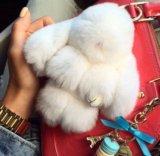 Кролики из натурального меха кролика . Фото 1.