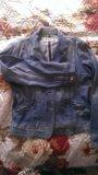 Джинцовая куртка голубая. Фото 2.