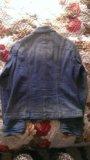 Джинцовая куртка голубая. Фото 3.