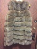Меховая жилетка из песца. Фото 1.