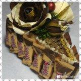 Букет из конфет.!!кусочек тортика!!. Фото 2.