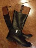 Сапоги женские gant нат.кожа. Фото 1.
