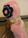 Шапка детская +шарф. Фото 1.