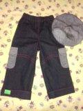 Новые джинсики с беретиком. Фото 1.