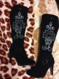 Новые красивые зимние сапоги на худую ножку. Фото 1.