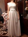 Вечернее белое платье. Фото 2.