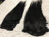 Натуральные волосы на заколках. Фото 1.