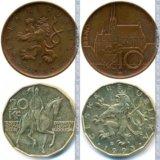 Монеты чехия 1993-2014. Фото 3.