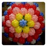 Тюльпанчики из воздушных шариков. Фото 1.