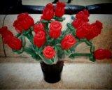 Розы из шариков. Фото 2.