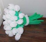 Розы из шариков. Фото 3.