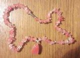 Розовый кварц (бусы). Фото 1.