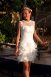 Короткое свадебное платье. Фото 2.
