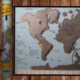 Стиральная карта мира скретч карта. Фото 1.
