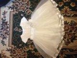 Нарядное пышное платье+ободок 92. Фото 1.