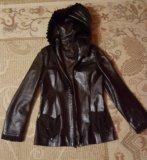 Продам кожаную куртку. Фото 1.