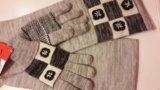 Комплект перчатки и шарф. новый. Фото 2.