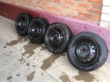 Комплект зимних колёс kumho 195/60 r15 (шипы). Фото 1.