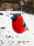 Снегирь, елочная игрушка. Фото 2.