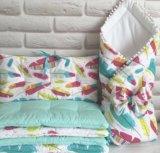 Бортики в кроватку для деток. Фото 3.