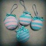 Вязаные елочные шары!. Фото 1.