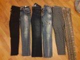 Джинсы, брюки, лосины на девушек 40-42. Фото 1.