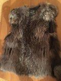 Меховая жилетка песец. Фото 1.