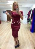 Платье бордовое. Фото 1.