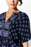 Новая блузка жен. цвет темно-синий. Фото 2.