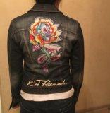 Куртка джинсовая ed hardy. Фото 1.
