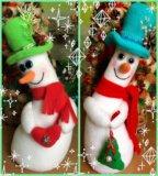 """""""пьяные"""" снеговики ручная работа. Фото 1."""