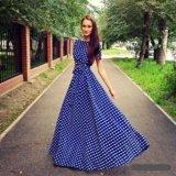 Платье в пол с поясом. Фото 1.