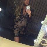 Платье чёрное  в пайетках. Фото 1.