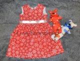 Платье новогоднее красное. Фото 1.