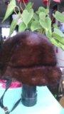 Шапка женская норковая. Фото 1.
