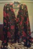 Блузка чёрная с красными розами, vivien caron.. Фото 2.