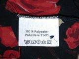 Блузка чёрная с красными розами, vivien caron.. Фото 4.