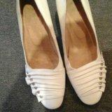 Туфли кожаные белые. р-р 36. Фото 2.