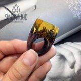 """Деревянное кольцо """"золото инков"""". Фото 1."""