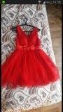 Очень красивое красное платье. Фото 1.