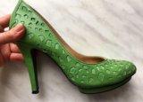 Туфли зеленые. Фото 1.