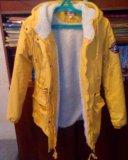 Парка женская зимняя желтая. Фото 2.