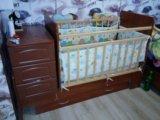 Детская кроватка-маятник. Фото 1.